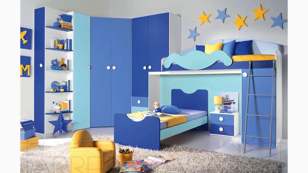 Camerette soppalco soluzioni colorate 2 e 3 letti youtube - Muri camerette bambini ...