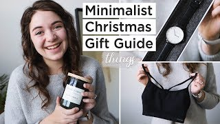 Minimalist Christmas Gift Guide | Meaningful Gifts For Minimalists | Pt. 1