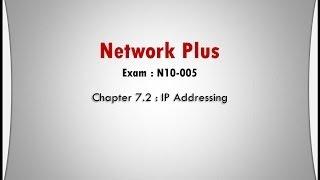 network plus ch 7 2 ip addressing