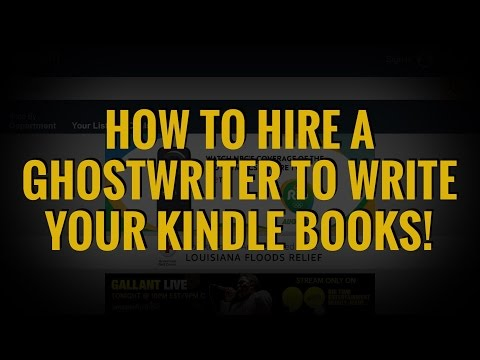 How To Hire A Ghostwriter To Write A Book For You!