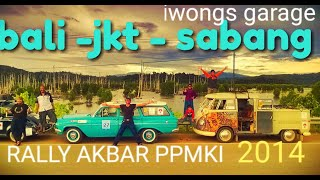 PPMKI classic car ( rally akbar ) trans Sumatra 2014 by iwongs garage.