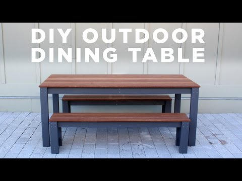 DIY Modern Outdoor Table and Benches