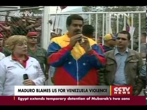 Maduro blames US for Venezuela violence