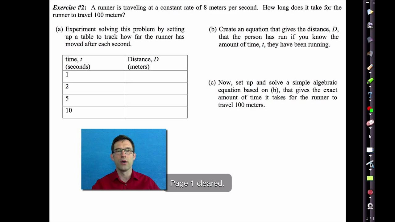 Common Core Algebra I Unit 1 Lesson 1 Rates Patterns And