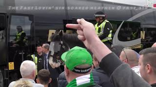 Celtic 1 - Rangers 0 - Warm Welcome for Stevie G & the Team as they Leave Bus - 02.09.18