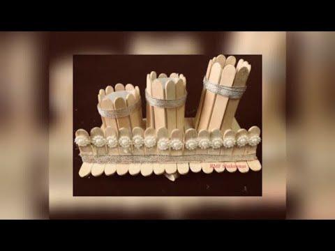 Simple craft - ice cream stick pencil stand - zaana 12