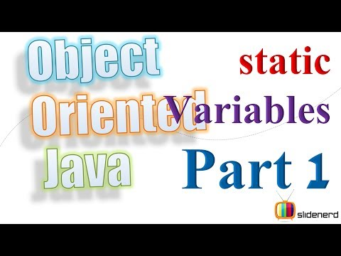 41 Java Static Variables Theory |