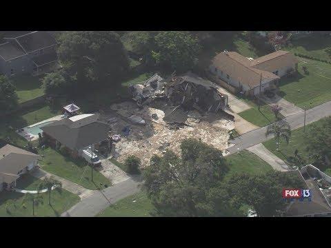 Sinkhole swallows Florida homes: SkyFOX view