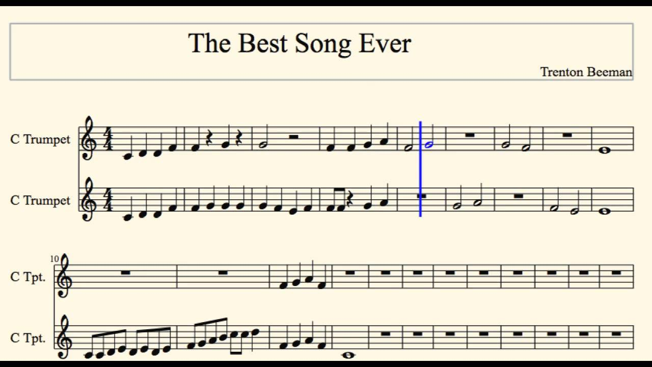 This is the best song ever *free song* (trumpet or cornet)