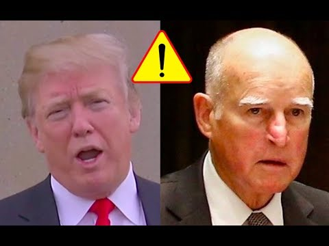 "Trump Slams California Governor Jerry Brown for Doing A ""Horrible Job"" in His State! 3/13/18"