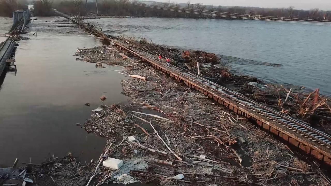 Spring 2019 Flooding In Nebraska - YouTube