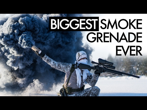 Biggest Smoke Grenade Ever - Airsoft
