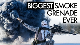 Biggest Smoke Grenade Ever - Airsoft
