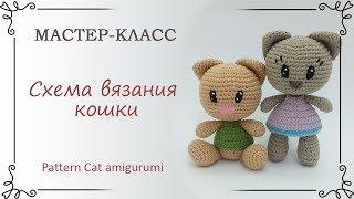 Схема вязания кота амигуруми крючком с описанием