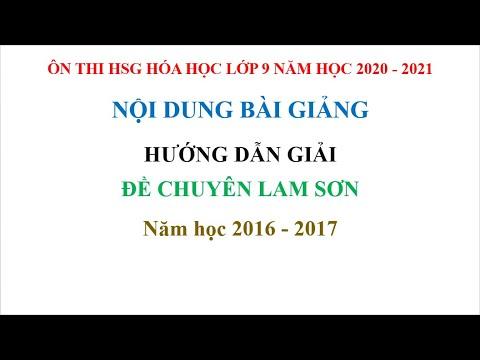 Hướng dẫn giải đề thi vào chuyên Lam Sơn năm học 2016 – 2017