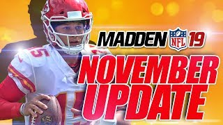 PLAYBOOK UPDATE & SQUAD DUOS! Madden 19 November Title Update