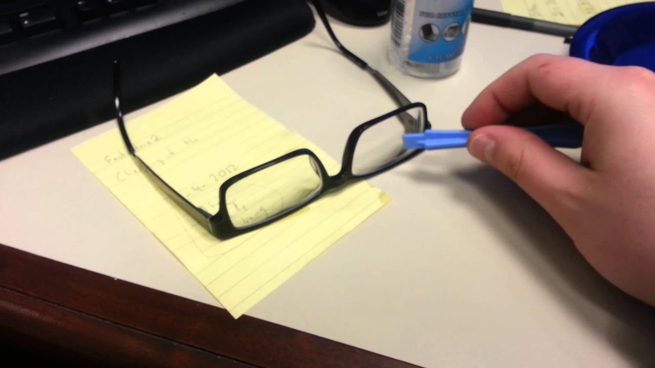 Remove anti reflective coating from glasses! - YouTube