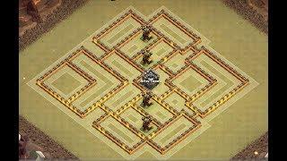 Th10 war base anti 3 stars | Th10 base de guerra | Diseño de aldea | Clash of clans