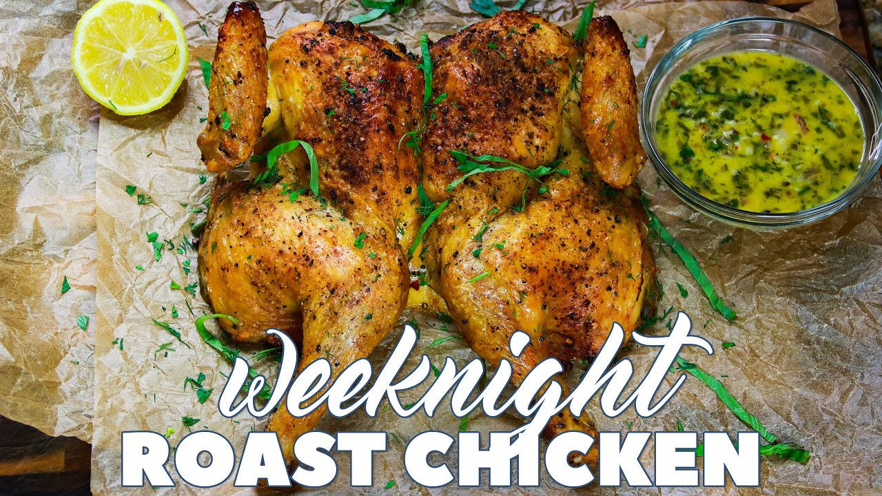 Weeknight Roast Chicken With Garlic And Herb Butter Sauce Keto Low Carb Carnaldish Youtube