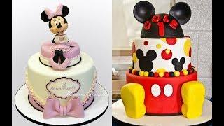 Pasteles de Minnie y Mickey Mouse en Fondant  Malibu - My Dessert Recipes