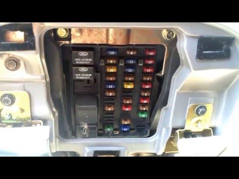 fuse box locations on a ford f ford f 150 1997 2003 fuse box location