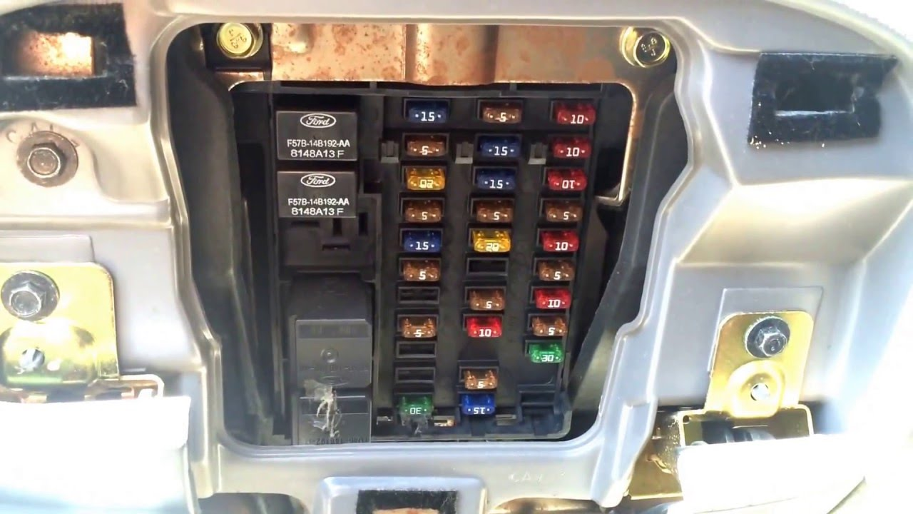 maxresdefault ford f 150 1997 2003 fuse box location youtube 2000 f150 fuse box diagram at gsmx.co