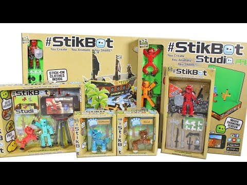 StikBot Studio Pro, StikBot Pets and StikBot Pirate Ship Scene Unboxing Toy Review #StikBot