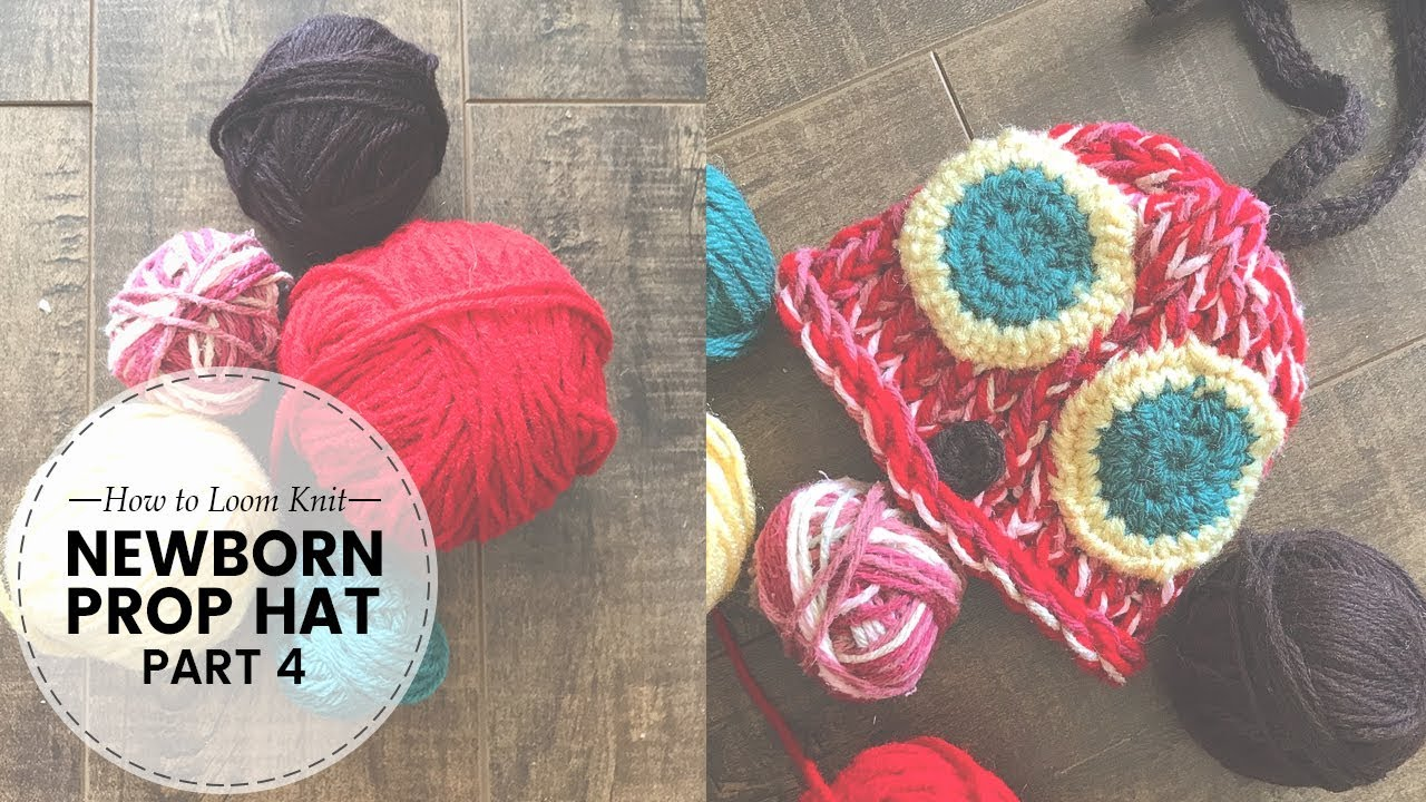How To Loom Knit Crochet Very Hungry Caterpillarhat Appliques