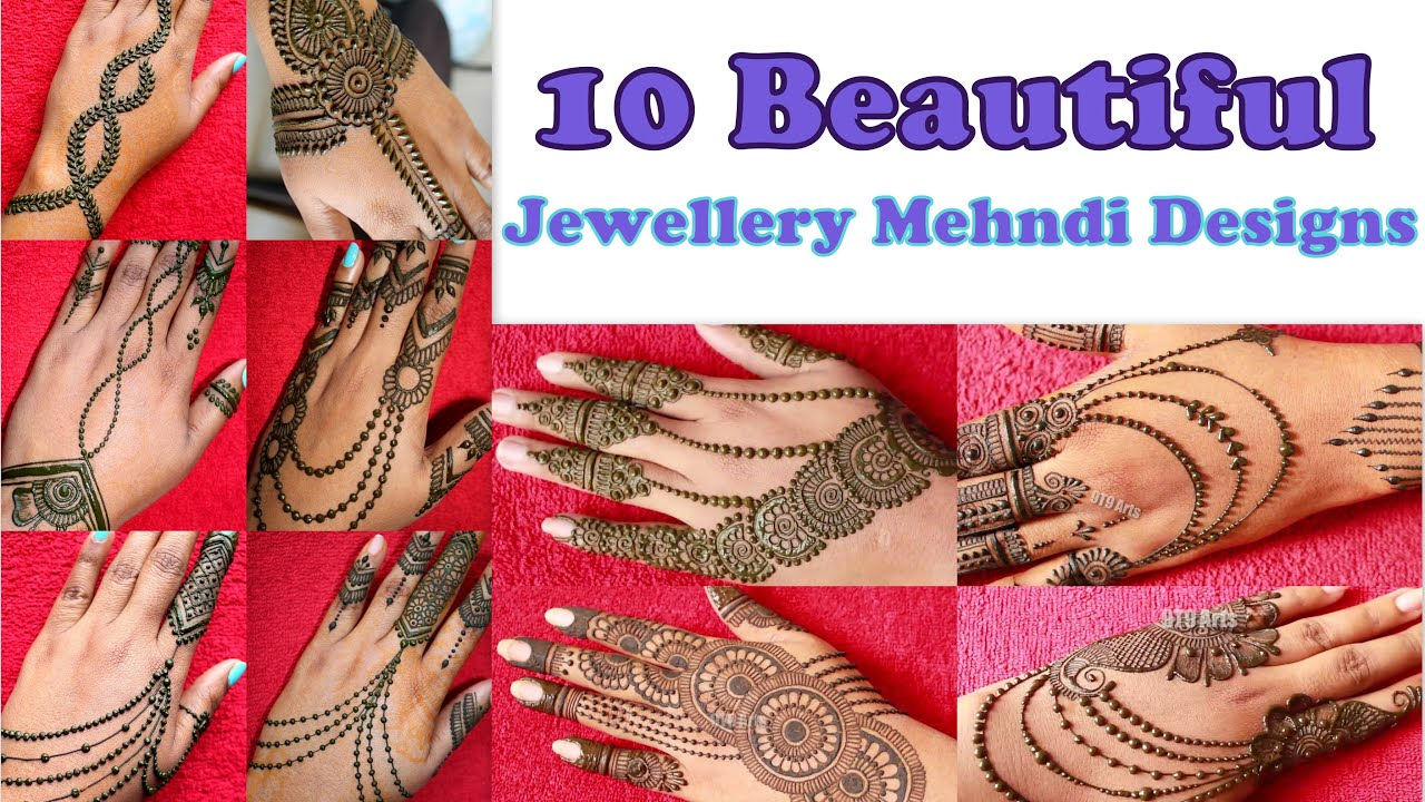 Eid Special Easy and Stylish Jewellery Mehndi Designs | Simple Henna Mehndi Designs | Floral Mehendi