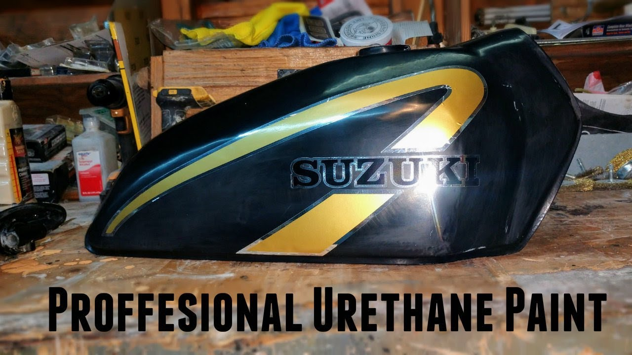 Painting the Gas Tank and Vinyl Decals! / TS185 #9