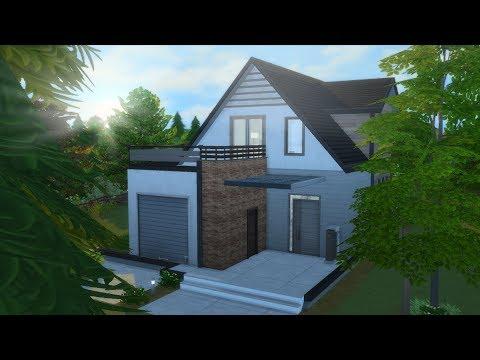 DOMEK JEDNORODZINNY Z PODDASZEM - The Sims 4 - Speed Build thumbnail