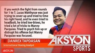 Pacquiao, talagang liyamado kontra kay Matthysse - Boxing analyst