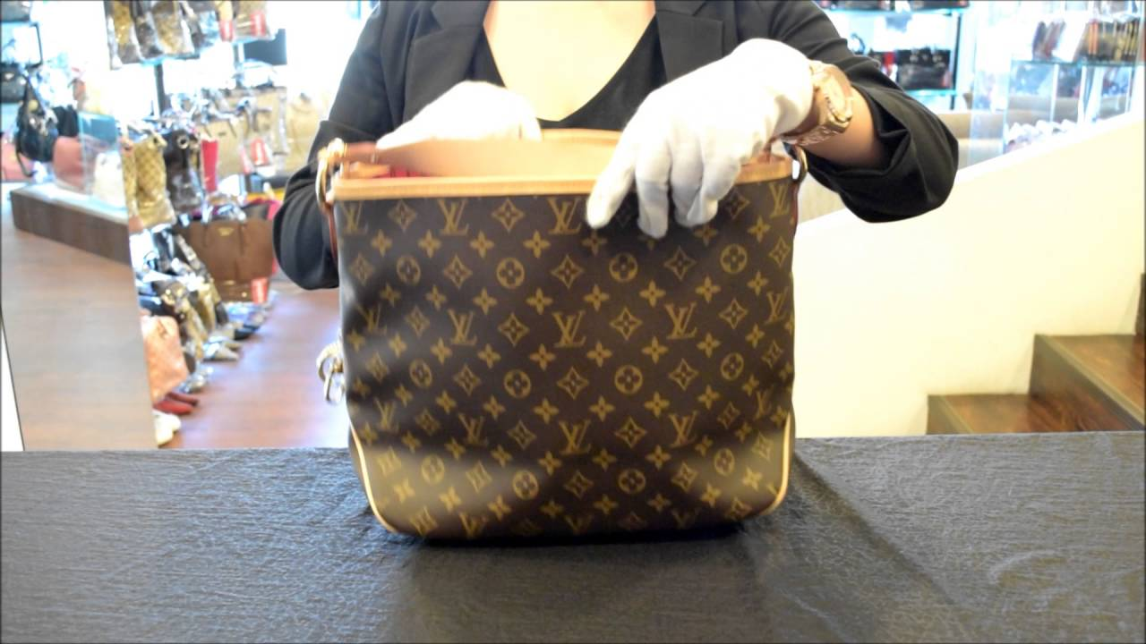 Louis Vuitton M50155 Delightful PM 經典花紋皮飾邊肩背包桃紅- YouTube 12bd1c50aa475