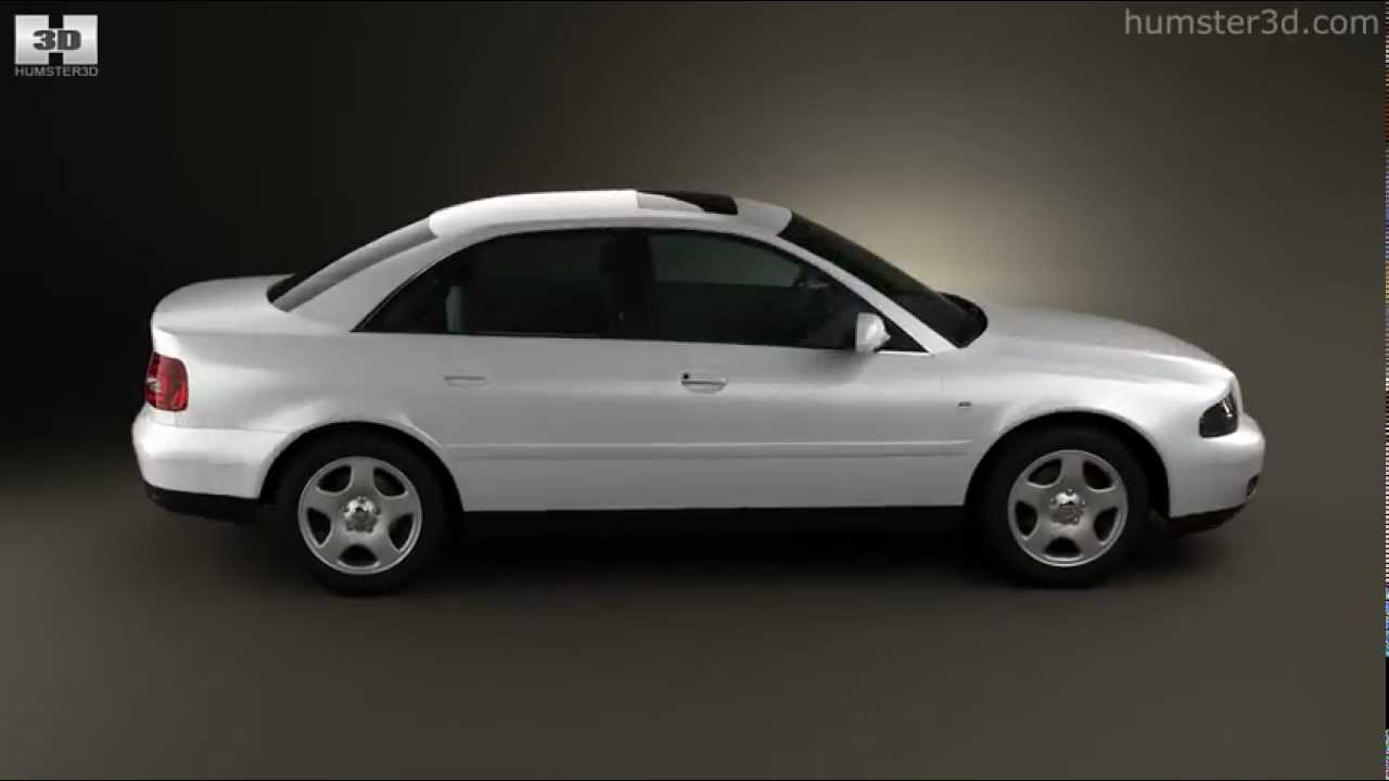 Audi A4 Sedan 1999 By 3d Model Store Humster3dcom Youtube