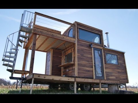 Beautiful Double Decker Tiny House With Spiral Staircase.