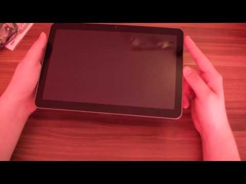 Samsung Galaxy Tab 10.1v Honeycomb Tablet Unboxing DE