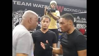 Sparring Wars!Watson Gym Sam Watson goes off after boxer QUITS N 1 ROUND