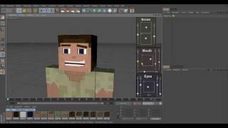 minecraft 3d character facial rig cinema 4d