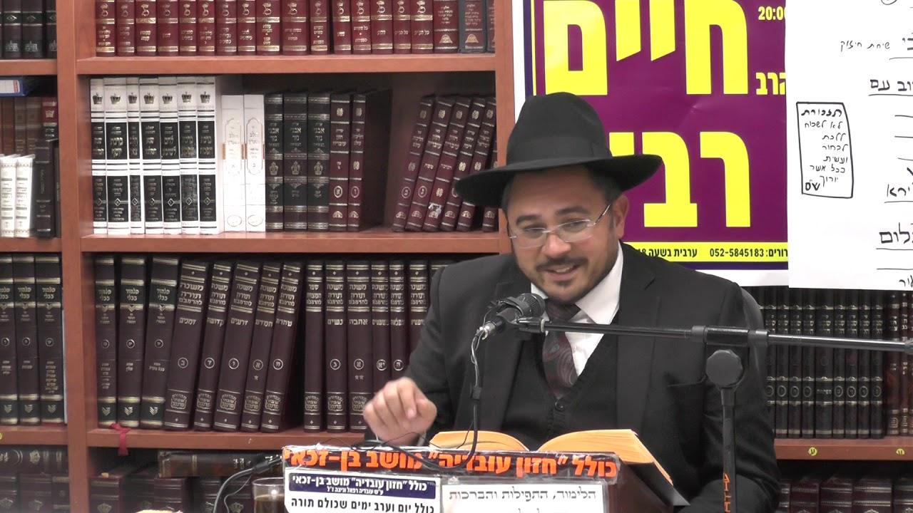 הרב אמיר כהן  : פרשת שמיני - על פי אור החיים הקדוש .