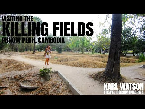 Visiting the Killing Fields, Phnom Penh, Cambodia