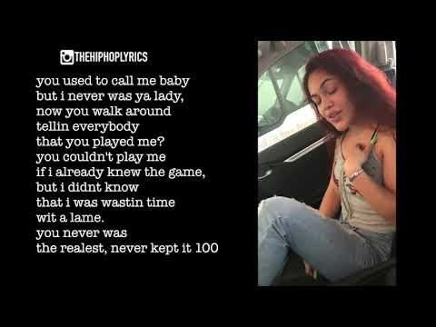 A girl raps about her ex.