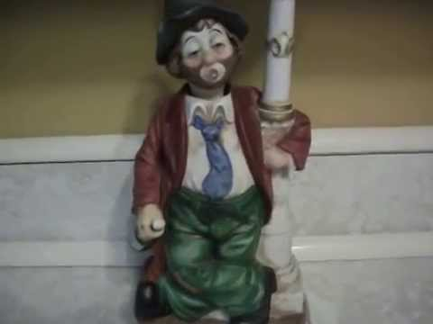 WACO Melody In Motion Clock-Post Willie Whistler Hobo Clown Whistles Animated