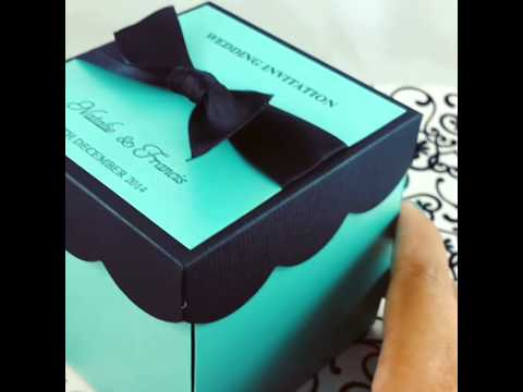 DIY KIT Wedding Exploding Box Invitations w Cake  YouTube