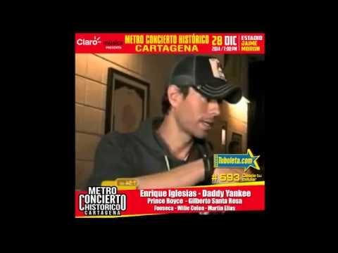 Metro Concierto Historico Cartagena 2014   Enrique Iglesias   Daddy Yankee   Prince Royce