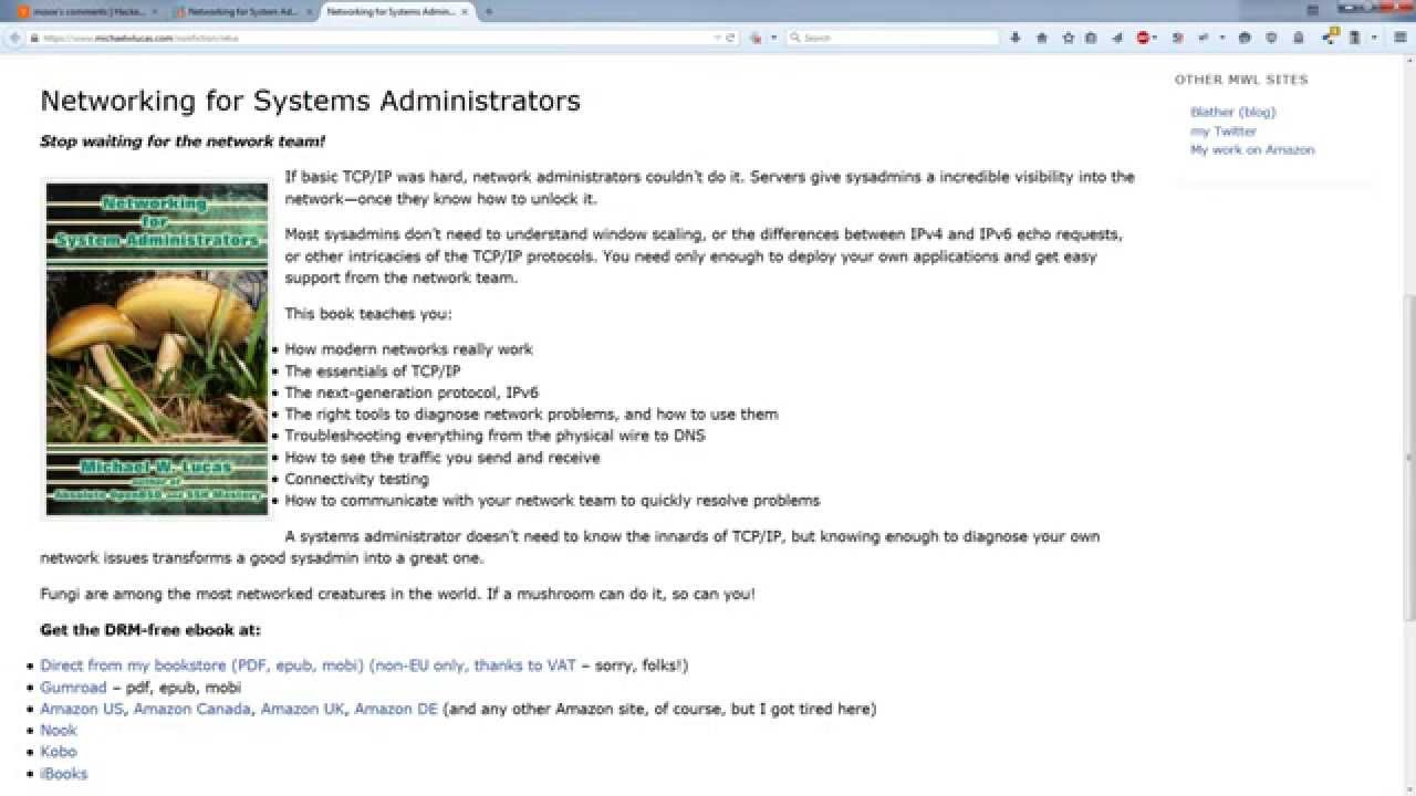 Windows administration books: a selection of sites