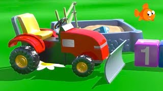 Build LITTLE TRACTOR! - Cartoons for kids - Learning videos for kids to learn to count