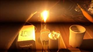 Лампы ДНаТ. Обзор. Включение. Мифы о дросселях и капле воды. Тестирование в темноте.