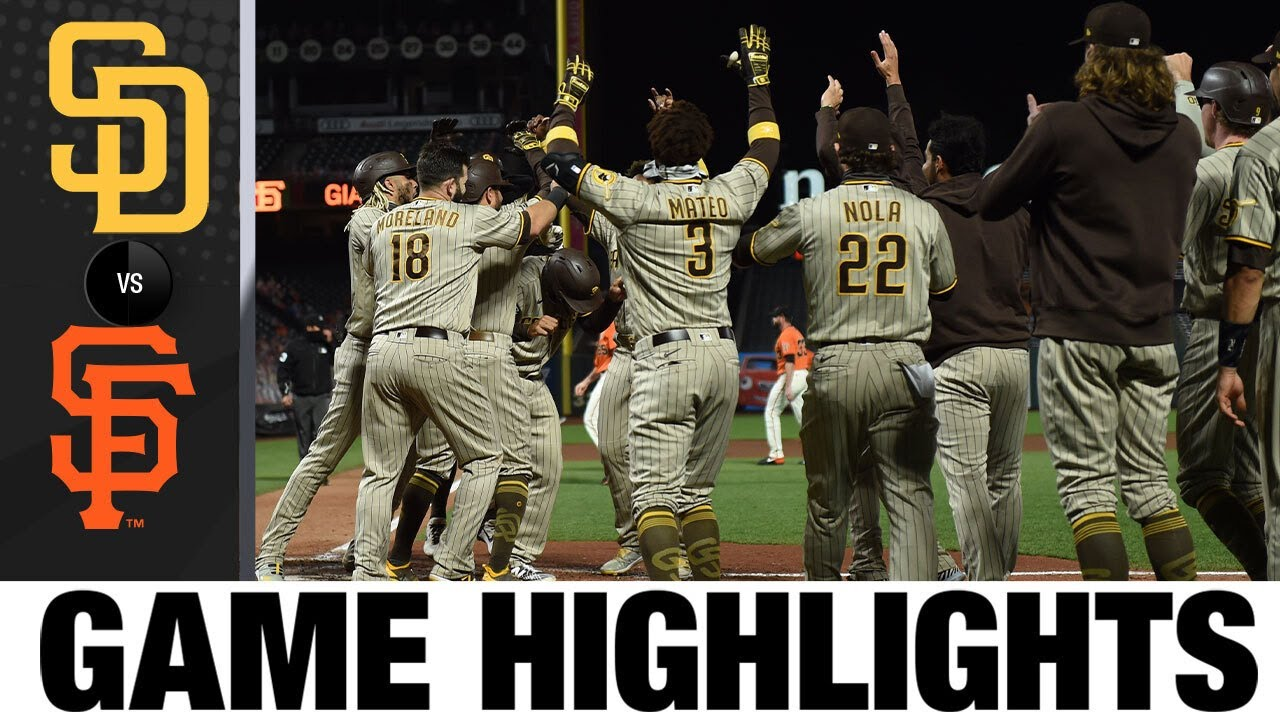 Trent Grisham hits walk-off homer in Padres' 6-5 win | Padres-Giants Game 2 Highlights 9/25/20