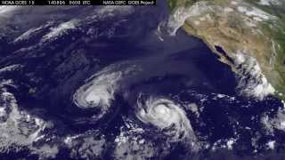 Satellite Movie Shows Hurricane Iselle and Julio Moving Toward Hawaii