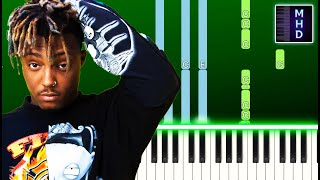 Juice WRLD - Up Up and Away (Piano Tutorial Easy)